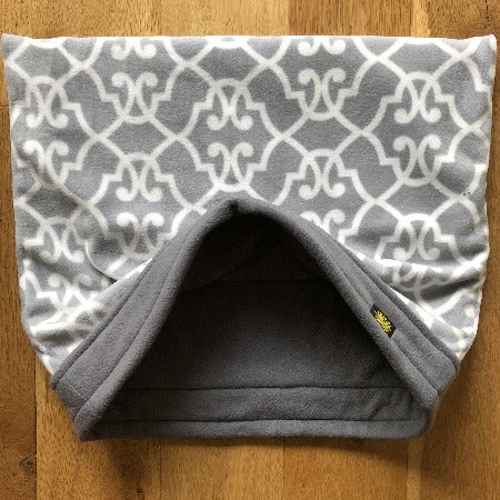 Grey Weave with Grey Trim Snuggle Sack