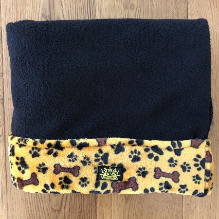Plush Golden Paws and Bones Black Snuggle Sack