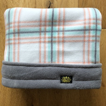Summer Tartan Grey Trim Snuggle Sack