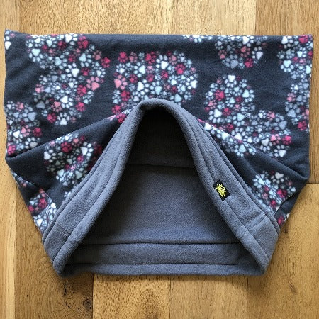 Heart of Paws Grey Trim Snuggle Sack
