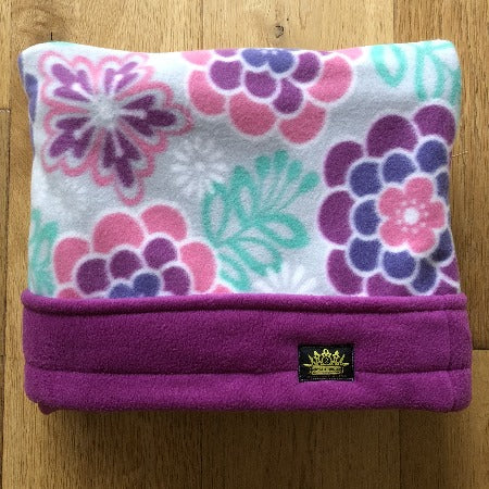 Flowers Mauve Trim Snuggle Sack
