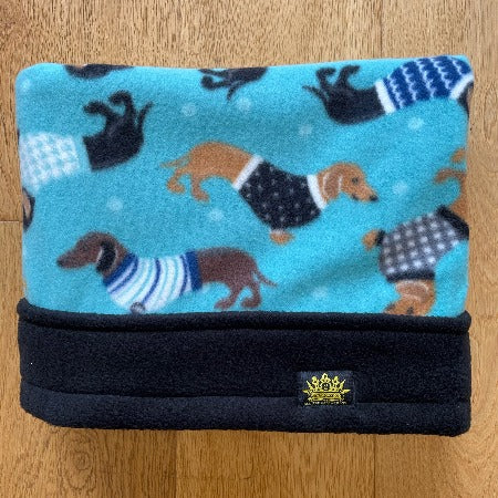 Blue Dachshunds Black Trim Snuggle Sack