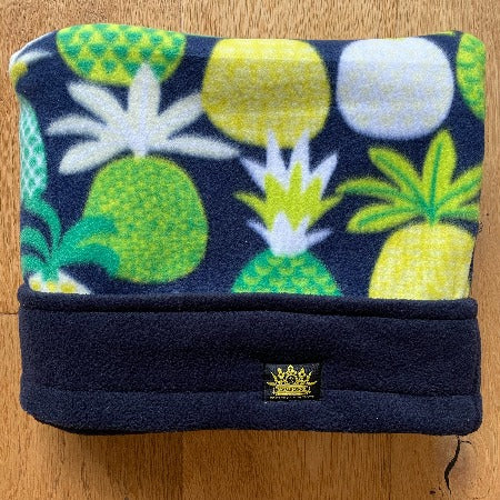 Troppo Pineapples Navy Trim Snuggle Sack