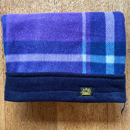 Purple Tartan Navy Trim Snuggle Sack