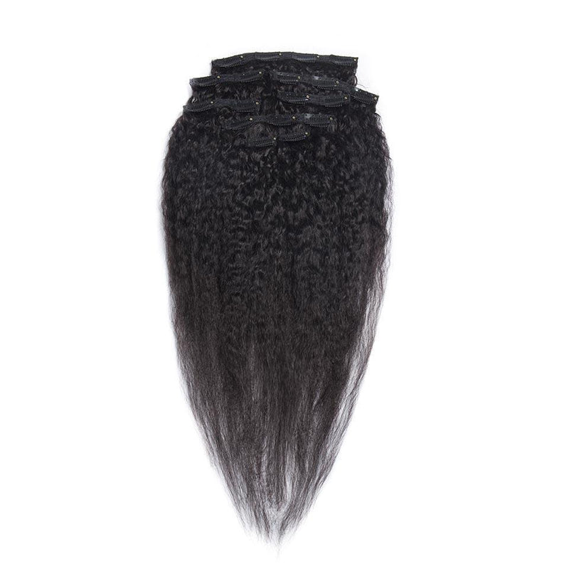 Brazilian Kinky Straight Clip In Extensions - Kenishi Hair
