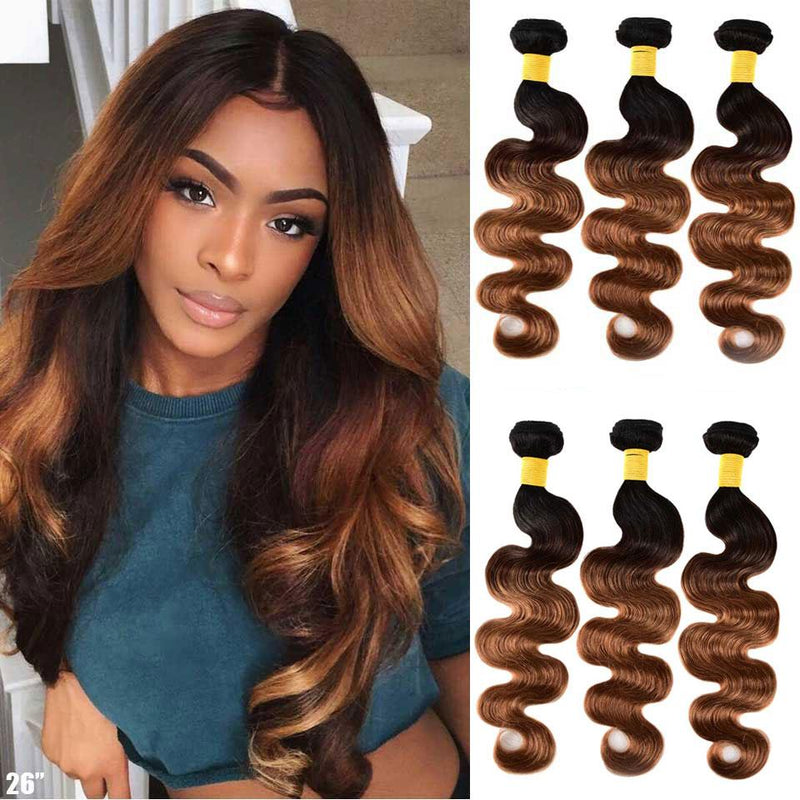 Ombre Body Wave Bundles (#27 & #30 Color) - Kenishi Hair