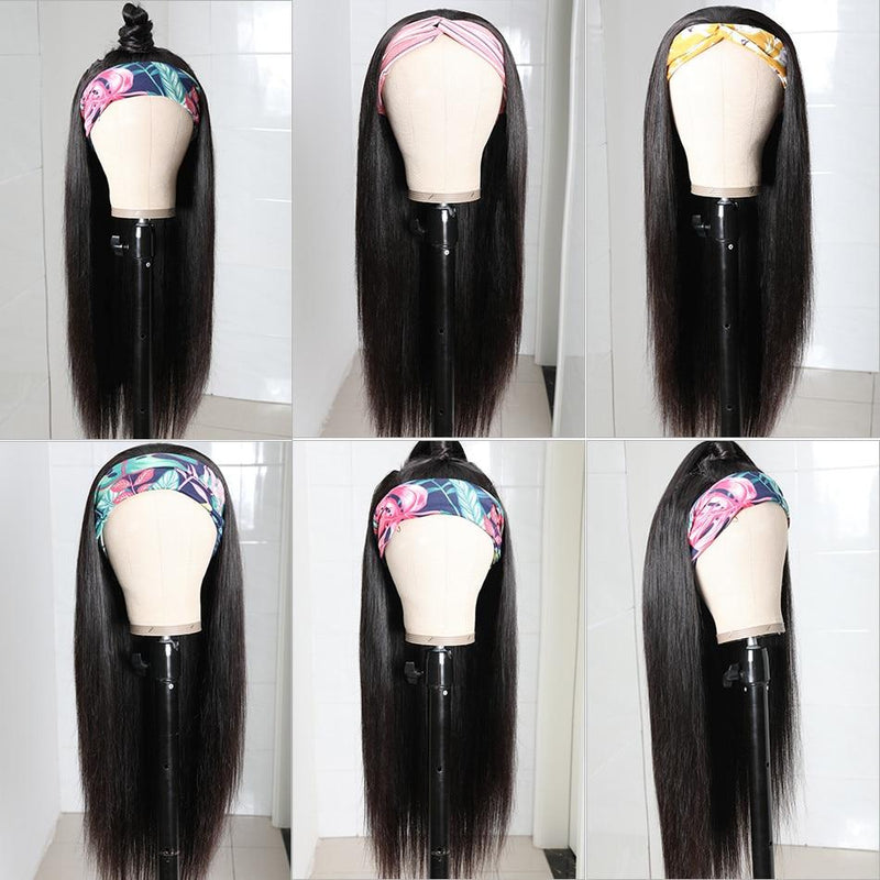 Straight Headband Scarf Wig - Kenishi Hair