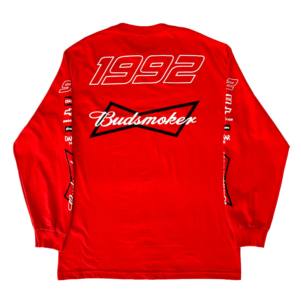 BUDSMOKER RED LONG SLEEVE