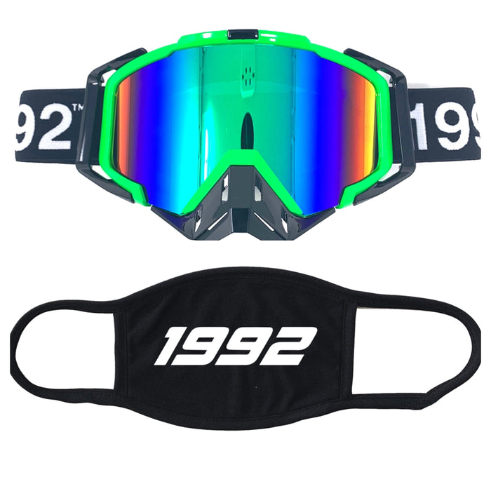 Green Goggle and mask combo