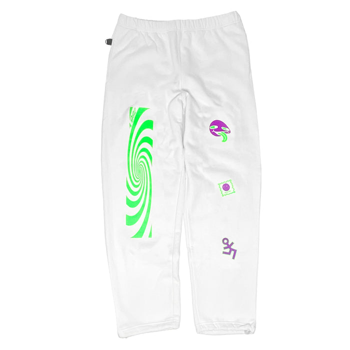 JUNGLE SWEAT PANTS WHITE