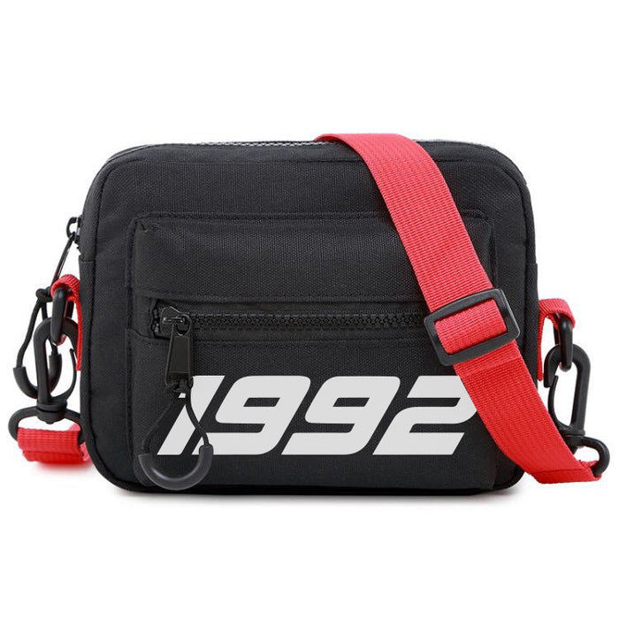 92 Cross body Bag Red and black