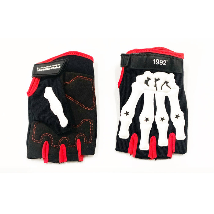 Death Grip Gloves Red and White