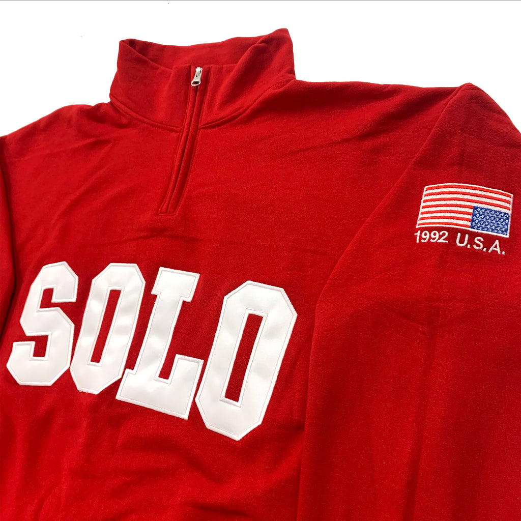 SOLO LIFE 1/4 ZIP RED