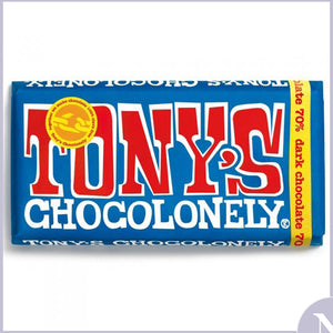 Tonys Chocolonely - Extra Dark Chocolate 70% - 180g Large Bar