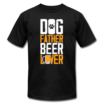 Dog Father Beer Lover T-Shirt - black