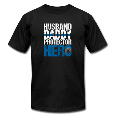 Husband Daddy Hero T-Shirt - black