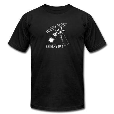 Happy First Father's Day T-Shirt - black