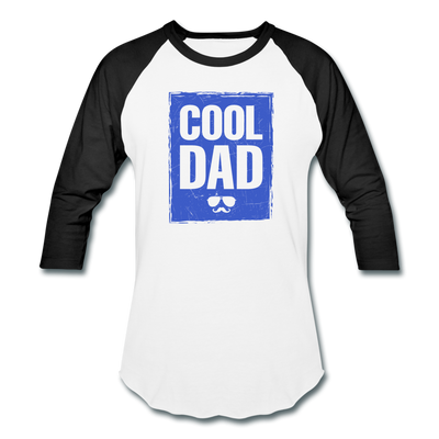Cool Dad Baseball T-Shirt - white/black