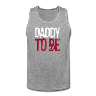 Daddy To Be Tank - heather gray