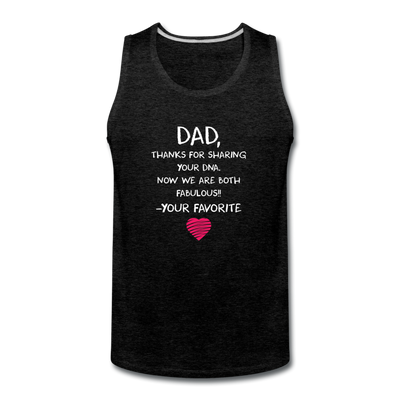 Dad Thanks For Sharing Your DNA Tank - charcoal gray