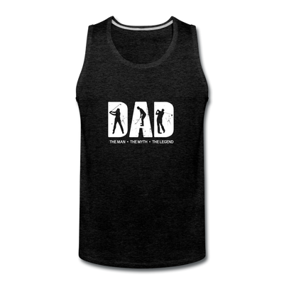 Golf Dad Tank - charcoal gray