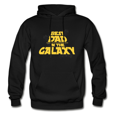 Best Dad In The Galaxy Hoodie - black