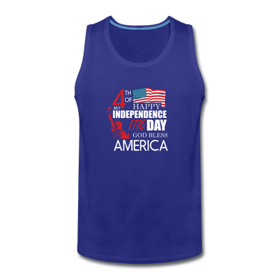 Happy Independence Day God Bless America Tank - royal blue