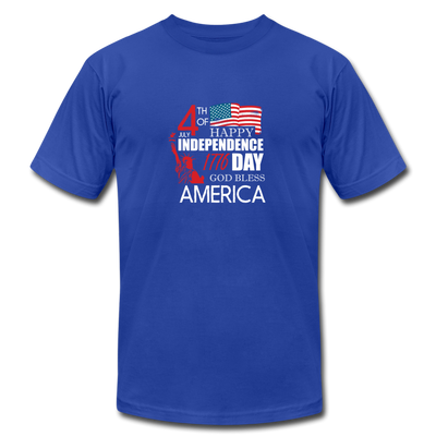 Happy Independence Day God Bless America T-Shirt - royal blue