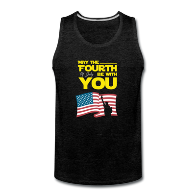 May The Fourth Of July Be With You Tank - charcoal gray