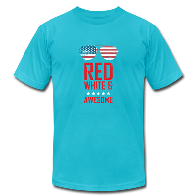 Red White And Awesome T-Shirt - turquoise