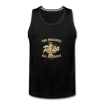 Papa The Original All American Tank - charcoal gray