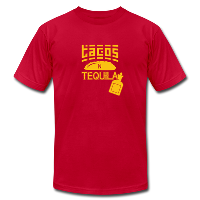 Tacos N Tequila T-Shirt - red