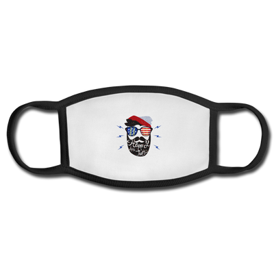 Happy 4th Of July Beard Face Mask - white/black