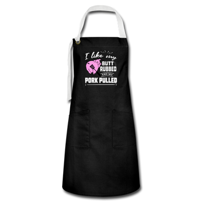 I Like My Butt Rubbed Apron - black/white
