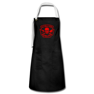 Natural Born Griller Apron - black/white