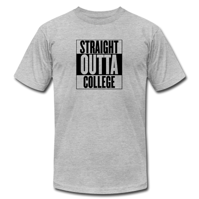 Straight Outta College T-Shirt - heather gray
