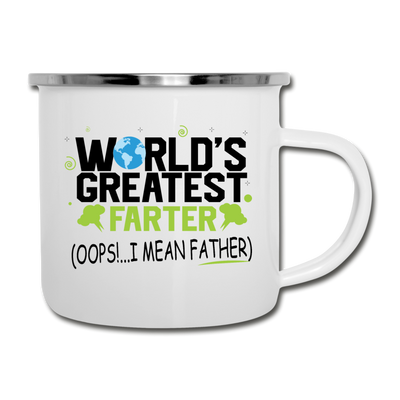 World's Greatest Farter Camper Mug - white