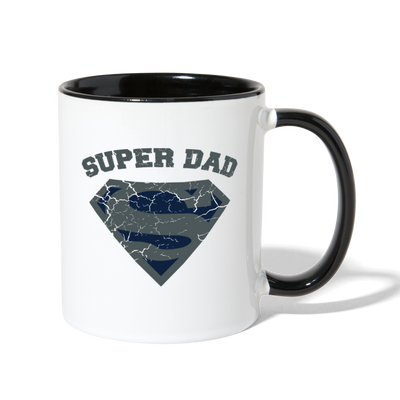 Super Dad Coffee Mug - white/black
