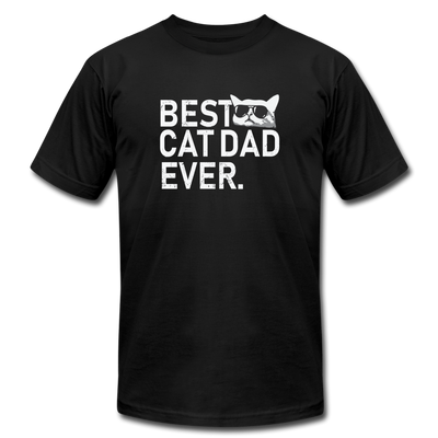 Best Cat Dad Ever T-Shirt - black