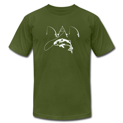 Fishing Dad T-Shirt - olive