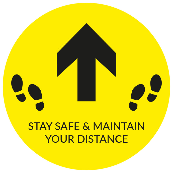 Yellow Directional Arrow - Floor Sticker