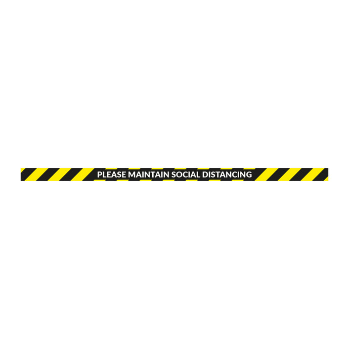 Maintain Social Distancing Strip - Floor Sticker