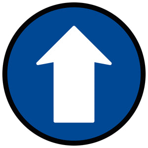 Blue Directional Arrow - Floor Sticker