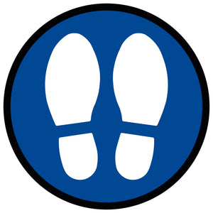 Blue Large Shoe Print - Floor Sticker