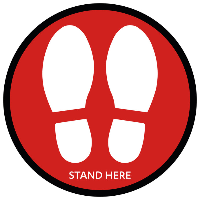 Red Large Shoe Print - Floor Sticker