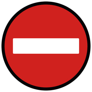 Red No Entry  - Floor Sticker