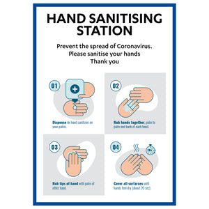 Hand Sanitising Station - Board Sign