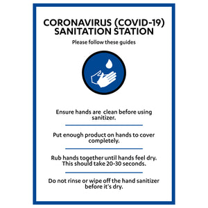 COVID-19 Sanitation Station - Board Sign