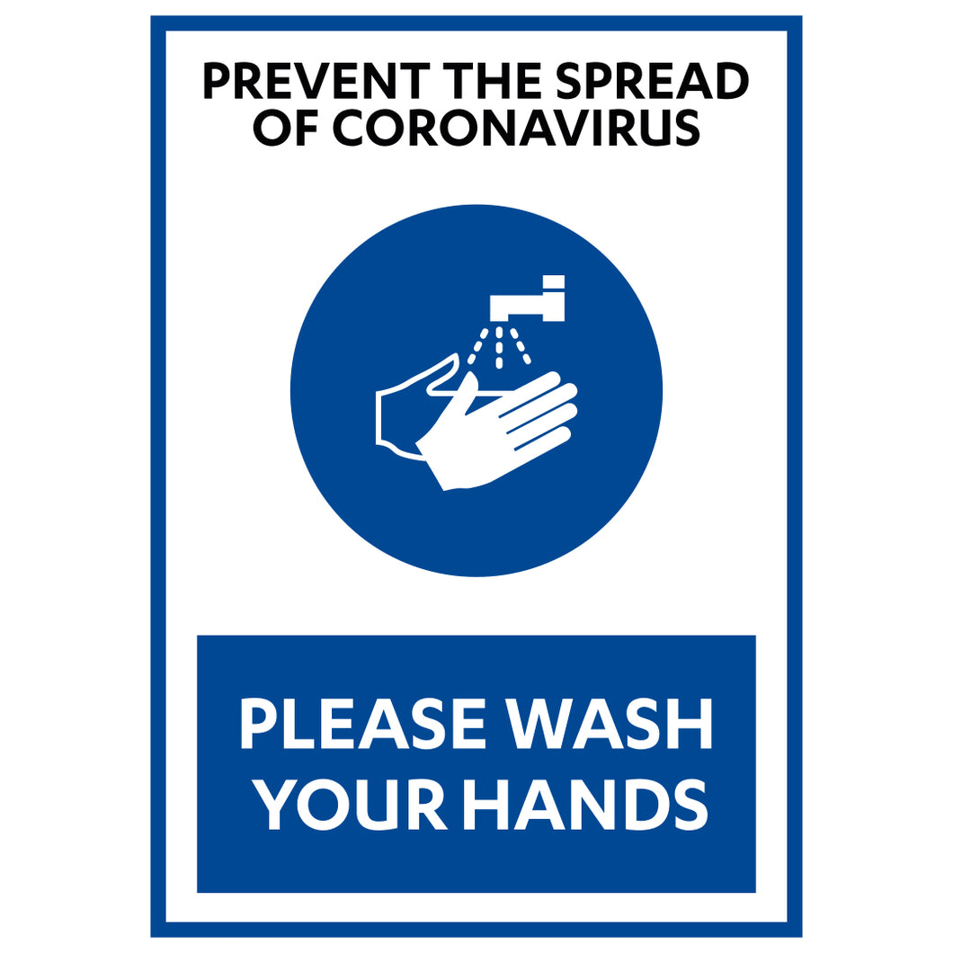 Prevent the Spread Of COVID-19 - Board Sign