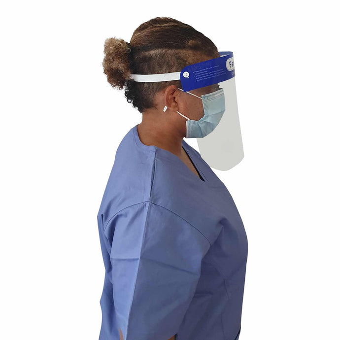 Face Shield PPE, Protect face from splashes, plastic face screen